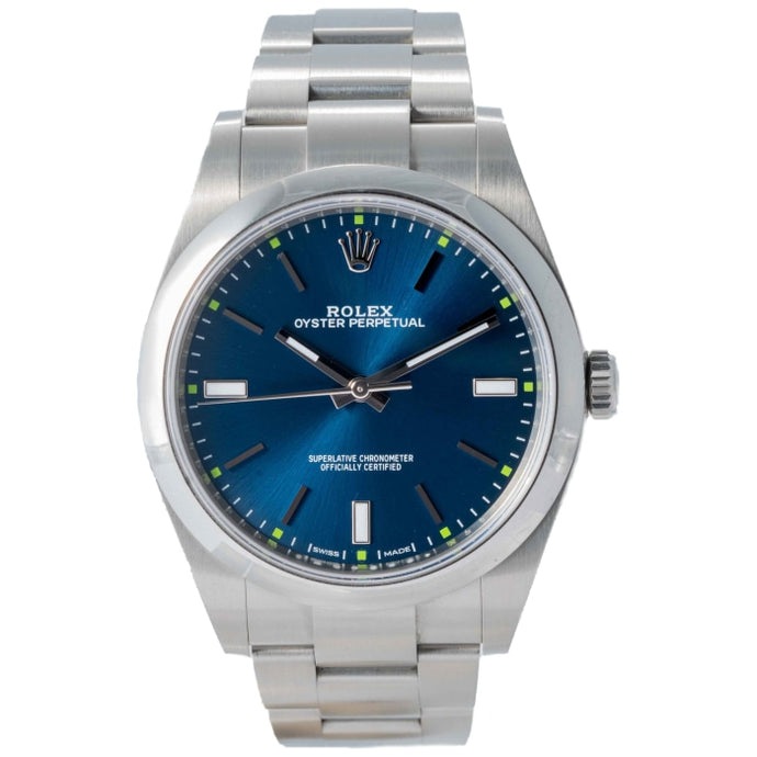 Rolex Oyster Perpetual 39 Dark Blue Stainless Steel 39mm (114300) - Boston