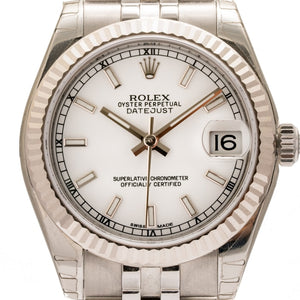 Rolex Oyster Perpetual Datejust Stainless Steel 31Mm (178274) - Watches Boston