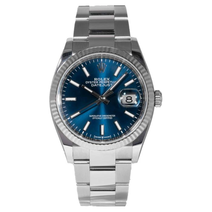 Rolex Oyster Perpetual Datejust Blue Dial 36mm (126234) - Boston