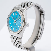 Load image into Gallery viewer, Rolex Oyster Perpetual Datejust Stella Turquoise Dial 36mm (1601) - Boston