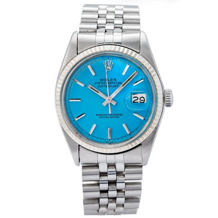 Rolex Oyster Perpetual Datejust Stella Turquoise Dial 36mm (1601) - Boston
