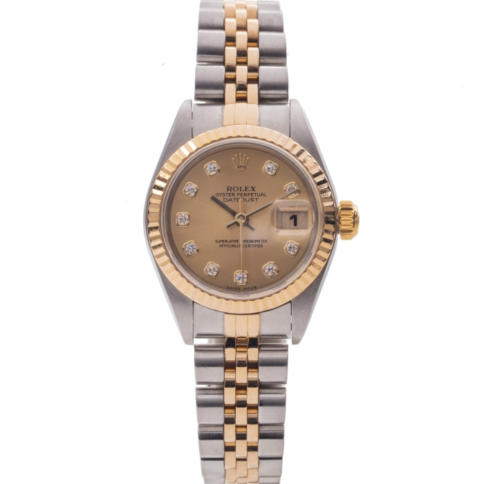 Rolex Oyster Perpetual Datejust Two-Tone 26Mm (79173) - Watches Boston