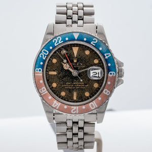 Rolex Pepsi GMT TROPICAL Gilt Dial Vintage 1966 Stainless Steel 40mm (ref. 1675) - Boston
