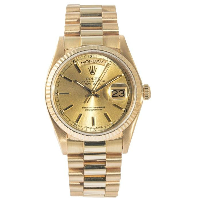 Rolex President Day-Date Yellow Gold 36mm (18038) - Boston