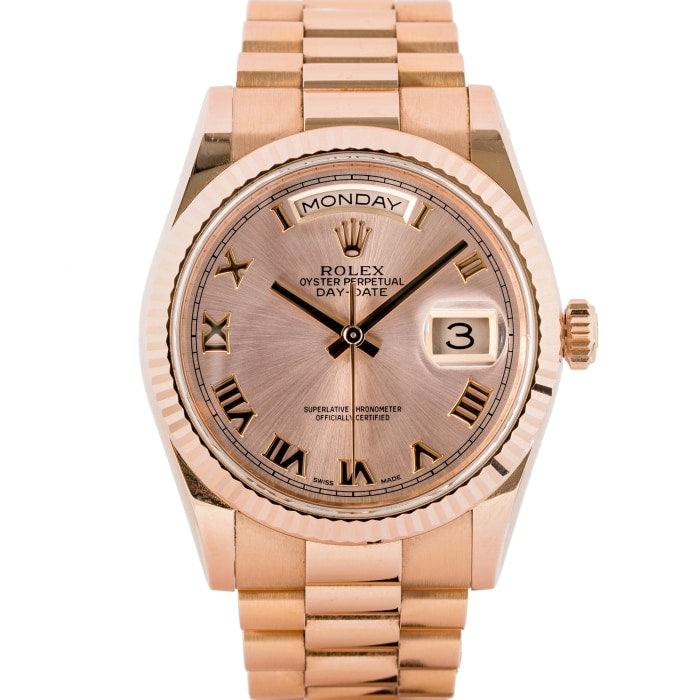 Rolex Presidential Day-Date EverRose Gold 36mm (118235) - Boston