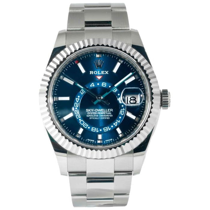 Rolex Sky-Dweller Blue Dial Oystersteel and White Gold 42mm 2019 (326934) - Boston