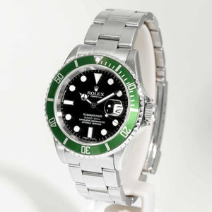 Rolex Submariner 50th Anniversary Black Dial Green Bezel Stainless Steel 40mm (16610V) - Boston