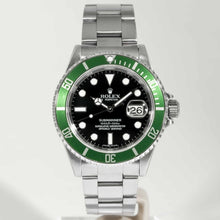 Load image into Gallery viewer, Rolex Submariner 50th Anniversary Kermit Black Dial Green Bezel Stainless Steel 40mm (16610V) - Boston