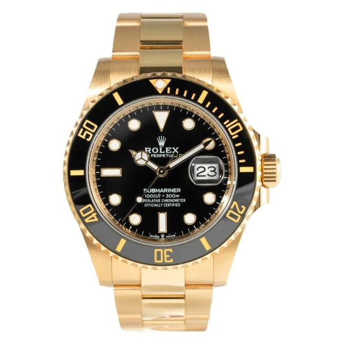Rolex Submariner Date 18 Karat Yellow Gold 41 Black Dial (126618LN) watch - Boston