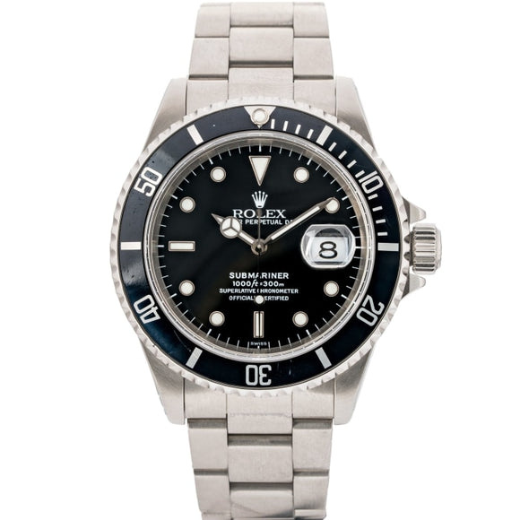 Rolex Submariner Date Black Dial Stainless Steel 40Mm (16610) - Boston