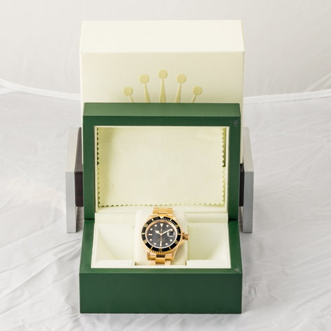 Rolex Submariner Date Black Dial Yellow Gold 40Mm (16618) - Boston