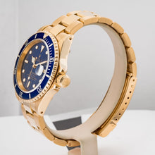 Load image into Gallery viewer, Rolex Submariner Date Blue Dial Yellow Gold 40mm (16618) - Boston
