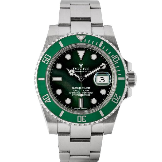 Rolex Submariner Green Ceramic Bezel Green Dial Hulk Stainless Steel 40mm (116610LV) - Incoming - Boston