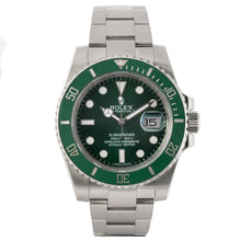 Load image into Gallery viewer, Rolex Submariner Green Ceramic Bezel Green Dial Hulk Stainless Steel 40mm (116610LV) - Boston