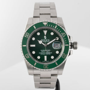 Rolex Submariner Green Ceramic Bezel Green Dial Hulk Stainless Steel 40mm (116610LV) - Boston