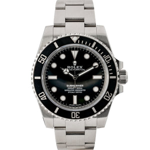ROLEX SUBMARINER NO DATE STAINLESS STEEL 40MM (114060) - MINT - Boston