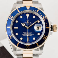 Load image into Gallery viewer, Rolex Submariner Two-Tone Blue Dial 40mm (16613) - Boston
