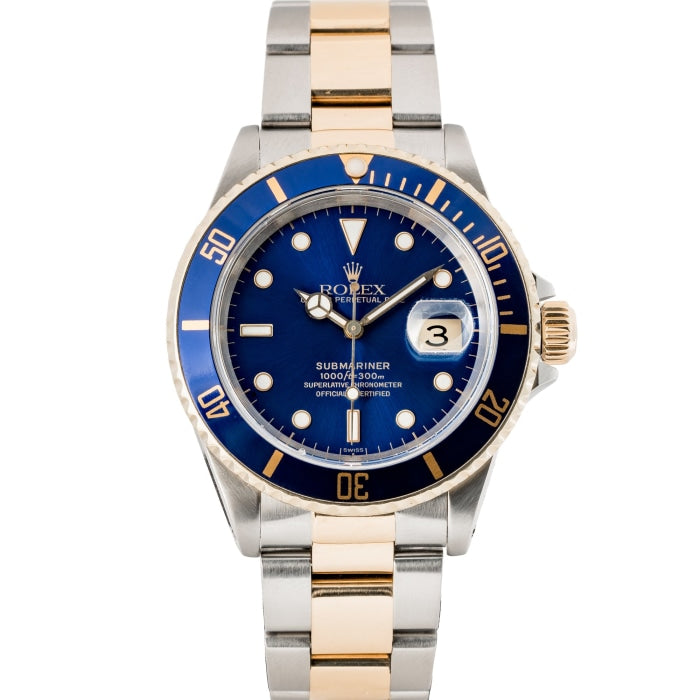 Rolex Submariner Two-Tone Blue Dial 40mm (16613) - Boston