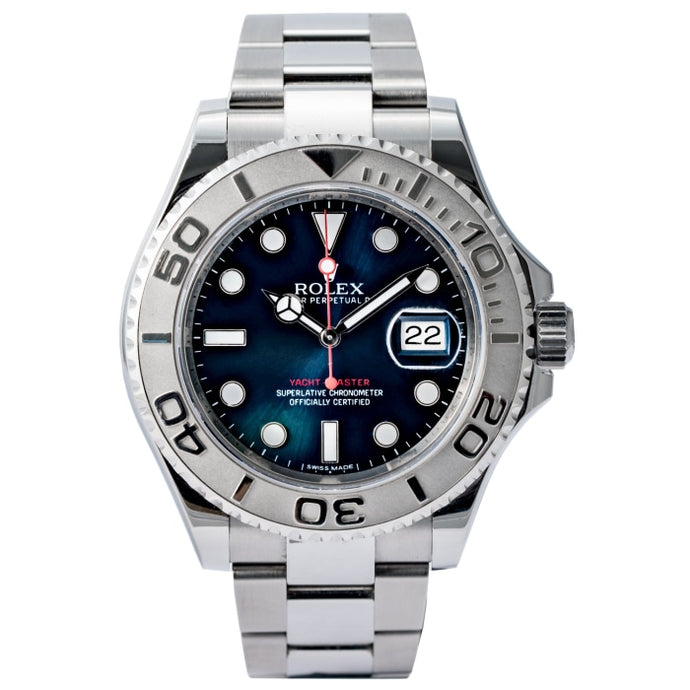 Rolex Yacht-Master Blue Dial Stainless Steel/Platinum Bezel 40mm (116622) - Boston