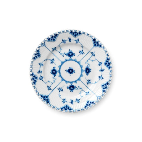 Royal Copenhagen Blue Fluted Full Lace Bread & Butter Plate - Home & Decor Boston
