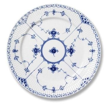 Royal Copenhagen Blue Fluted Half Lace Dinner Plate - Home & Decor Boston