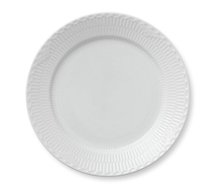 Royal Copenhagen White Half Fluted Plate- Special Order Only - HOME & DECOR Boston