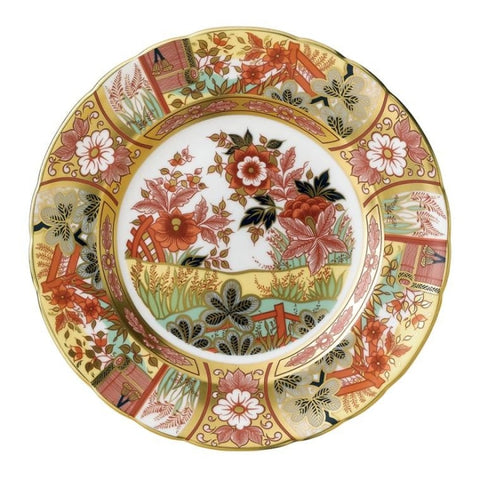 Royal Crown Derby~ Imari Garden Accent Plate - Home & Decor Boston