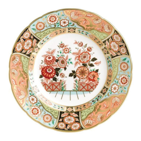 Royal Crown Derby~ Imari Regency Flowers Accent Plate - Home & Decor Boston