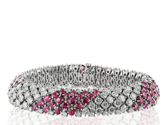 Ruby & Diamond Vintage Bracelet - Boston