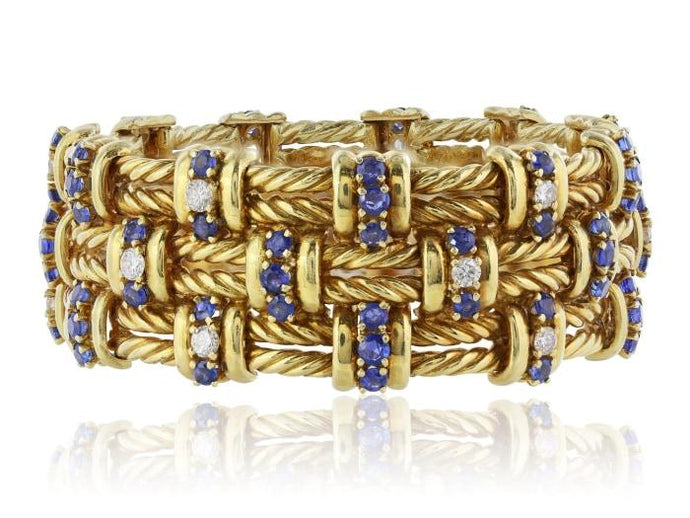 Tiffany & Co. Sapphire And Diamond Bracelet - Jewelry Boston