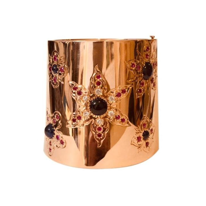 14 Karat Rose Gold Retro Period Cuff Bracelet - Boston