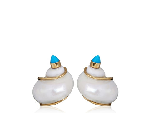 Seaman Schepps Sea Shell Earrings - Jewelry Boston