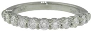 Shreve Crump & Low Eternity Wedding Band - 11 Stone - Jewelry Boston