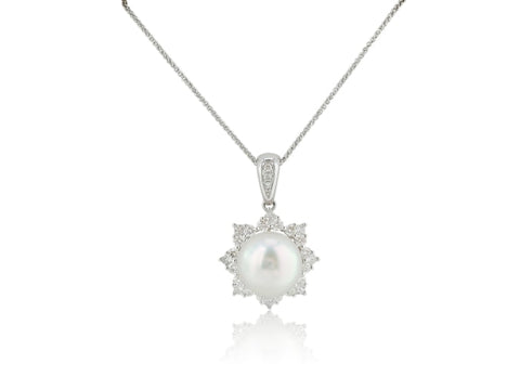 South Sea Pearl Cluster Pendant - Jewelry Boston