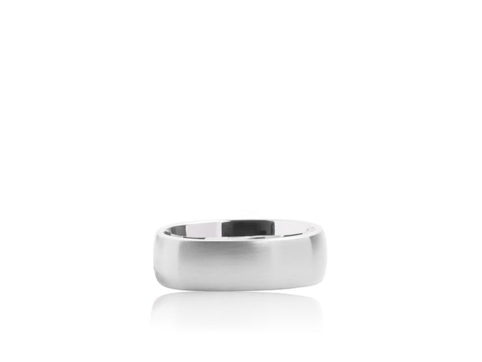 Squared Wedding Band (White Gold) - JEWELRY Boston