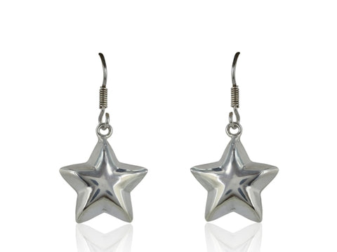 Sterling Silver Star Earrings - Jewelry Boston