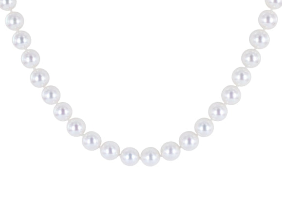 Strand Of 7 X 7.5 Mm Cultured Pearl Necklace - Jewelry Boston