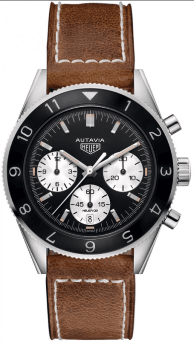 Tag Heuer Autavia Heritage Calibre 02 42mm Stainless Steel/Strap (Ref CBE2110.FC8226) - Boston