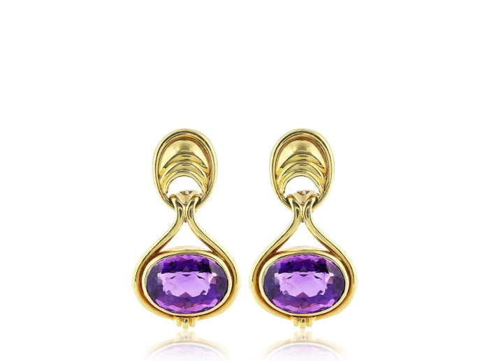 Tiffany & Co. Amethyst Drop Earrings - Jewelry Boston