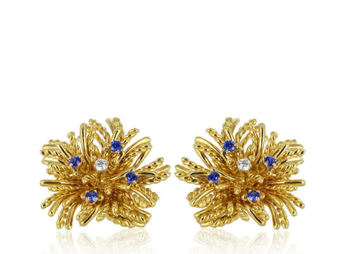 Tiffany & Co. Diamond Estate Clip Earrings - Jewelry Boston