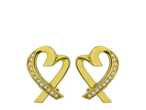 Tiffany & Co. Paloma Picasso Loving Hearts Estate Earrings - Jewelry Boston