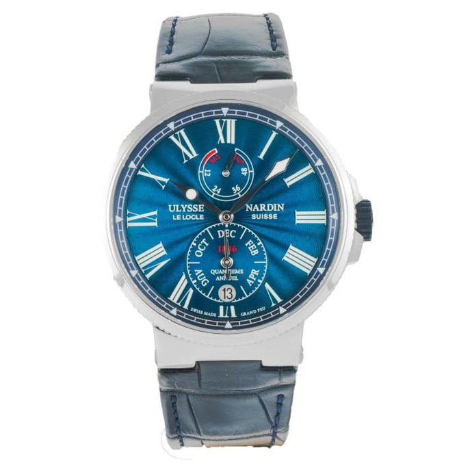 Ulysse Nardin Marine Chronometer Annual Calendar Stainless Steel 43mm (1133-210/E3) - Boston