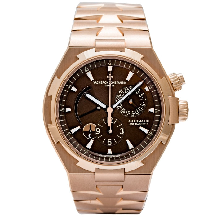 Vacheron Constantin Overseas Dual Time Rose Gold Chocolate Dial 42mm (47450/B01R-9229) - Boston