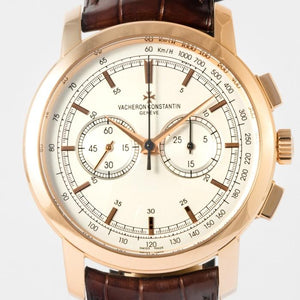 Vacheron Constantin Patrimony Traditionnelle Chronograph 42 Rose Gold Silver (47192/000R-9352) - Boston