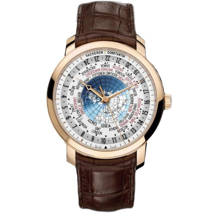 Vacheron Constantin Traditionnelle World Time 42.5Mm Rose Gold (86060/000R-9640) - Watches Boston