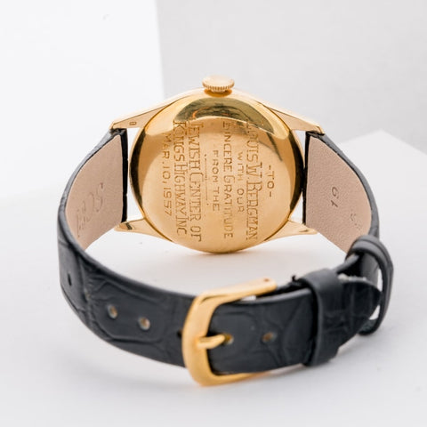 Vacheron Constantin Vintage 1950s Yellow Gold Gents Watch 34mm (4195) - Boston