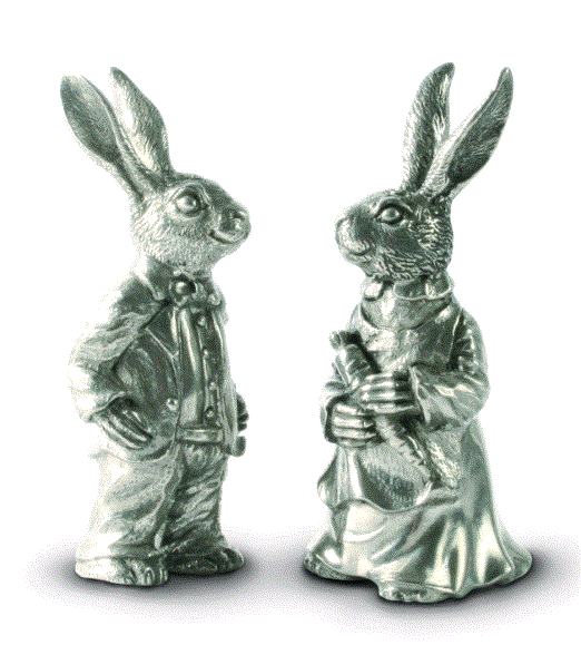 Vagabond Dressed Rabbits Salt & Pepper Set - Home & Decor Boston