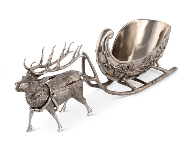 Vagabond House Sleigh and Reindeer Centerpiece - Boston
