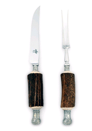 Vagabond King Crown Antler Carving Set - Home & Decor Boston