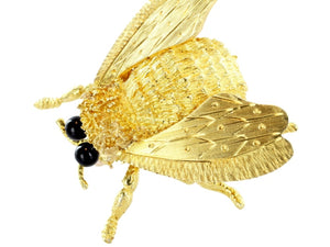 Vintage Insect Pin (18k Yellow Gold) - JEWELRY Boston